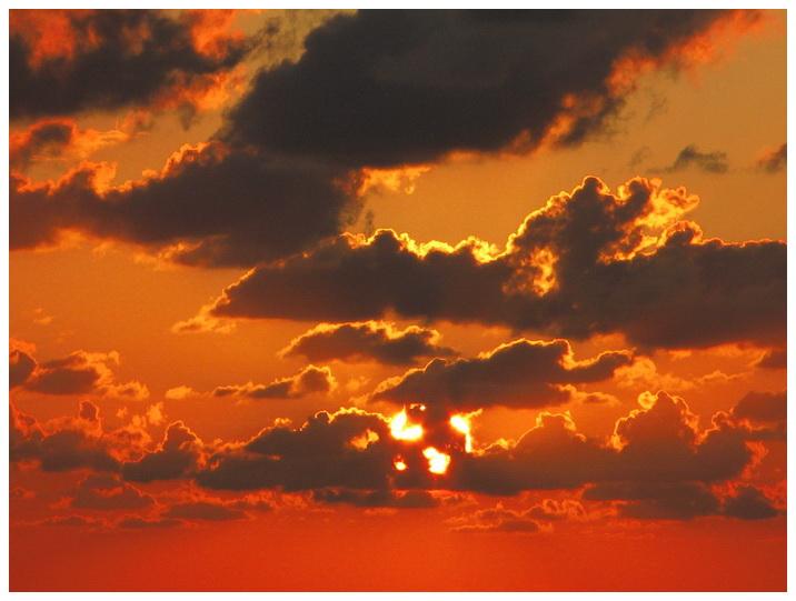 21(雲間の夕陽) .JPG